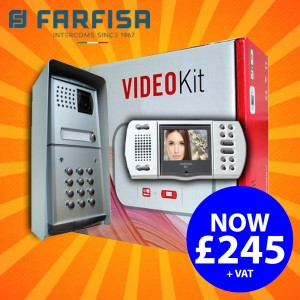 Farfisa Video Intercom - Single with Keypad