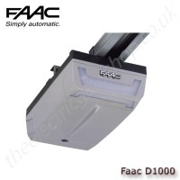 faac d1000, electromechanically-driven operator for sectional doors or spring/counterbalanced up-and-over doors