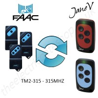 FAAC Gate Remote 315.00MHZ, Replaced by Jane V Multi-frequency Remote.