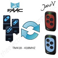 FAAC Gate Remote 418.00MHZ, Replaced by Jane V Multi-frequency Remote.