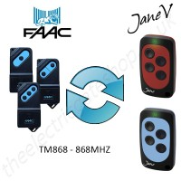 FAAC Gate Remote 868.00MHZ, Replaced by Jane V Multi-frequency Remote.