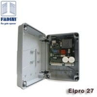 fadini elpro 27 control panel. previously fadini elpro 23. twin swing gate kit for 230v motors.