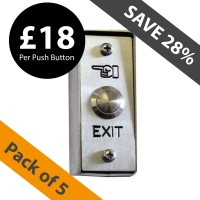 pack of 5 stainless steel entry & exit push button