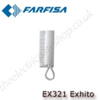 aci farfisa exhito white handset intercom wall mounted 2 wire.