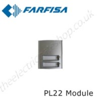aci farfisa pl22 external door station with 2 call buttons.