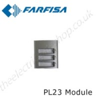 aci farfisa pl23 external door station with 3 call buttons.
