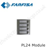 aci farfisa pl24 modular external door station with 4 call buttons.