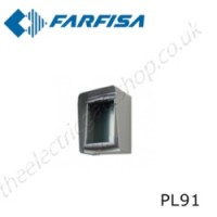 aci farfisa pl91 rain shelter in aluminium equipped with module frame for 1 profilo module.