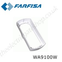 aci farfisa echos wall adaptor for surface mounting. silver colour.