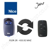 Jane Top-A 433.92 Mhz Clone Remote to clone Nice Flor 2R Gate Remote