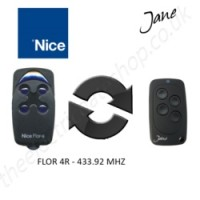 Jane Top-A 433.92 Mhz Clone Remote to clone Nice Flor 4R Gate Remote