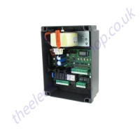 Gibidi BA 24 / BA24 Control panel is for one or two motors 24vdc and provides via the LCD programming display many different functions. Among many features this panel provides anti crushing and slow down to comply with (EN12453)
