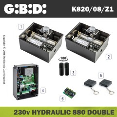 gibidi 880 hydraulic 230v electric gate kit - double