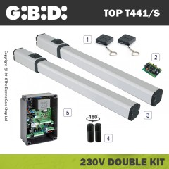 gibidi top441 hydraulic 230v bac electric gate kit - double