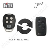 Jane Top-A 433.92 Mhz Clone Remote to clone Ditec Gol4 Gate Remote