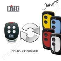 ditec gate remote 433.920mhz, replaced by jane f remote.