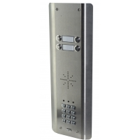 aes gsm5as4 stainless steel wireless gsm intercom
