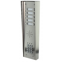 aes gsm5hs10 stainless steel hooded wireless gsm intercom