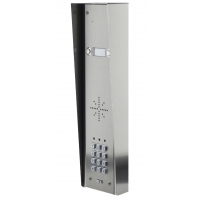 aes gsm5hs2 stainless steel hooded wireless gsm intercom