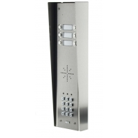 aes gsm5hs6 stainless steel hooded wireless gsm intercom