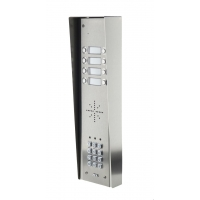 aes gsm5hs8 stainless steel hooded wireless gsm intercom