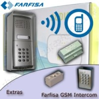 GSM intercom with escalation function. Calls any telephone number, allows the user to speak and then decide to allow entry or deny.