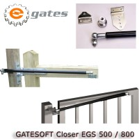 gate closer hydraulic for pedestrian gates, supplied complete with ball joint ends.  suitable for gates exceeding 0.75m and up to 120kg.
