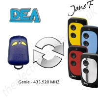 dea gate remote 433.920mhz, replaced by jane f remote.