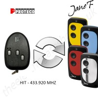 proteco gate remote 433.920mhz, replaced by jane f remote.