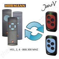 HORMANN Gate Remote 868.300MHZ, Replaced by Jane V Multi-frequency Remote.