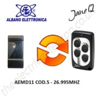 albano gate remote 26.995mhz, replaced by jane q low-frequency remote.