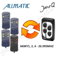 allmatic gate remote 26.995mhz, replaced by jane q low-frequency remote.