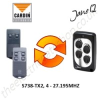 CARDIN Gate Remote 27.195MHZ, Replaced by Jane Q Low-frequency Remote.