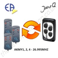 europe automatismes gate remote 26.995mhz, replaced by jane q low-frequency remote.