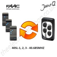 FAAC Gate Remote 40.685MHZ, Replaced by Jane Q Low-frequency Remote.