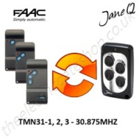 FAAC Gate Remote 30.875MHZ, Replaced by Jane Q Low-frequency Remote.