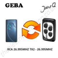 geba gate remote 26.995mhz, replaced by jane q low-frequency remote.