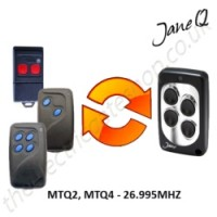 gibidi gate remote 26.995mhz, replaced by jane q low-frequency remote.