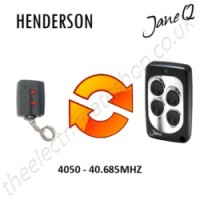 HENDERSON Gate Remote 40.685MHZ, Replaced by Jane Q Low-frequency Remote.