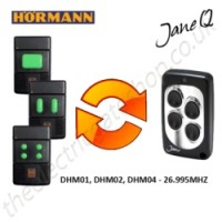 hormann gate remote 26.995mhz, replaced by jane q low-frequency remote.
