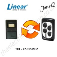 LINEAR Gate Remote 27.015MHZ, Replaced by Jane Q Low-frequency Remote.
