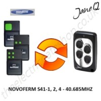 NOVOFERM Gate Remote 40.685MHZ, Replaced by Jane Q Low-frequency Remote.