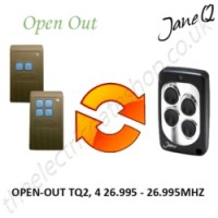 OPEN-OUT Gate Remote 26.995MHZ, Replaced by Jane Q Low-frequency Remote.