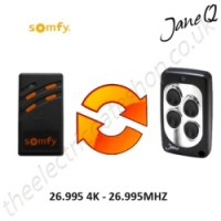 SOMFY Gate Remote 26.995MHZ, Replaced by Jane Q Low-frequency Remote.