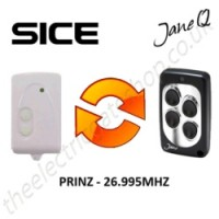 sice gate remote 26.995mhz, replaced by jane q low-frequency remote.