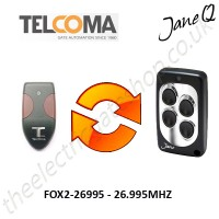 TELCOMA Gate Remote 26.995MHZ, Replaced by Jane Q Low-frequency Remote.