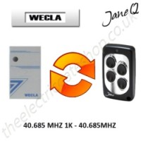 WECLA Gate Remote 40.685MHZ, Replaced by Jane Q Low-frequency Remote.