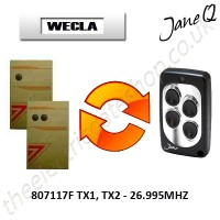 WECLA Gate Remote 26.995MHZ, Replaced by Jane Q Low-frequency Remote.
