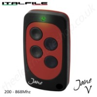 Jane V will clone any fixed code remote between 200 & 868 Mhz!