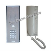 stainless intercom with built-in keypad